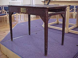 Wesley's table