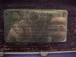 Plaque on Wesley's table
